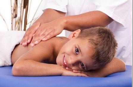 Resultado de imagen de masaje chocolate niños